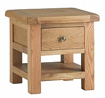 Vale Furnishers - Dorking Lamp Table with Drawer